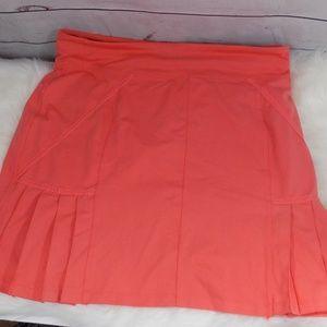 Athleta skirt size XLT peach color built in shorts